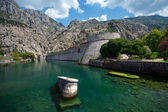 Wall Fortifications in City Kotor — Stock Photo