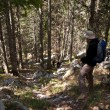 Mountaineer in forest — Stock Photo #14792705