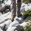 View of Hiking Pants and Boots — Stock Photo