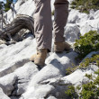 View of Hiking Pants and Boots - Stock Photo