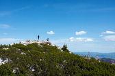 Dva horolezci na horní kopec — Stock fotografie