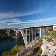 Bridge over river Krka, Croatia — Stock Photo