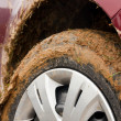 Stock Photo: Car stuck in mud