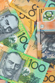 Australian currency background — Stock Photo