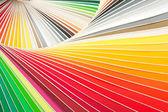 Closeup of color palette guide — Stock Photo