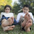 Relaxing children in the nature — Stock Photo #18646011