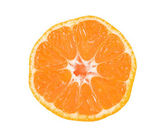 Slice of mandarin on white — Stock Photo