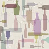 Bottles background — Vetorial Stock