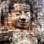 Angkor wat face — Stock Photo