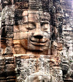 Angkor wat face — Stock Photo