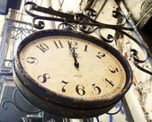 Vintage street clock — Stock Photo