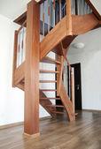 Escaleras interiores de madera — Foto de Stock