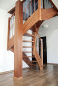 Interior stairs wooden — Foto de Stock