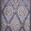 Antique iron door with ornaments — Stock Photo