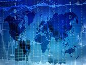 Mapa de mundo do mercado de ações — Foto Stock