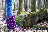 Female rain boots — Stock Photo