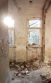 Interior of abandoned house — Stock Photo
