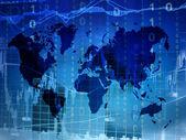 Mapa de mundo do mercado de ações — Fotografia Stock