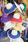 Summer hats for sale — Stock Photo