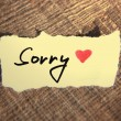 Sorry handwritten — Stock Photo #33650817