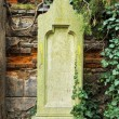 Stock Photo: Worn tombstone