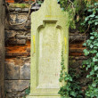 Worn tombstone — 图库照片 #33651757