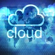 Stock Photo: Cloud technology