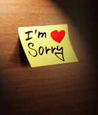 Sorry handwritten — Stock Photo
