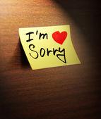 Sorry handwritten — Stock Photo