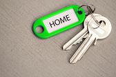 Key fob home — Stock Photo