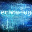 Photo: Technological blue background