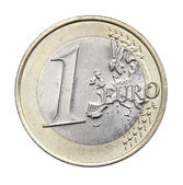 1 euro isolated — Stock Photo
