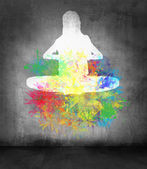 Meditation graffiti — Stock Photo