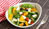 Vegetable salad with feta cheese — Photo