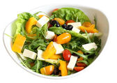 Vegetable salad in bowl isolated — Stockfoto