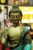 Buddha bronze sculpture closeup — Stock Photo