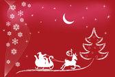 Santa reindeer — Stock Vector