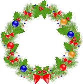 Christmas Wreath insulated — Stock Vector