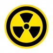 Stock Vector: Hazard radioactivity sign