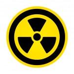 Hazard radioactivity sign — Stock Vector