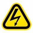 Stock Vector: Hazard high voltage sign