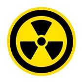 Hazard radioactivity sign — Stock Vector