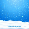 Falling Snow. Blue Winter Background — Stok Vektör