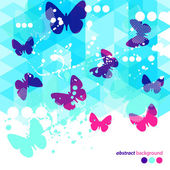 Abstract Blue Butterflies Background — Stock Vector