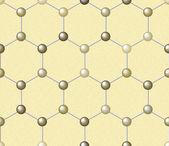 Molecule Seamless Background Texture — Stockvektor