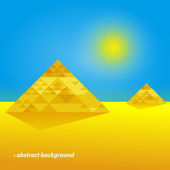 Pyramids In The Desert. Abstract Background — Stock Vector