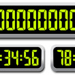 Set Of Digital Numbers. Countdown Timer — Stockvektor  #39543841