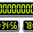 Set Of Digital Numbers. Countdown Timer — Vettoriale Stock  #39543841