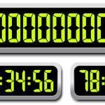 Set Of Digital Numbers. Countdown Timer — Stock Vector