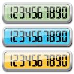 Set Of Digital Numbers — Stock Vector